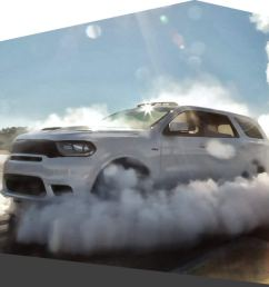 dodge durango surrounded by smoke unmistakeable muscle [ 1440 x 1363 Pixel ]