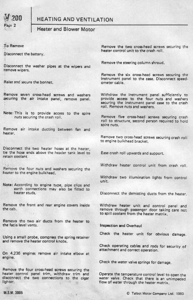 Dodge50.co.uk Workshop Manual Section V Heating and