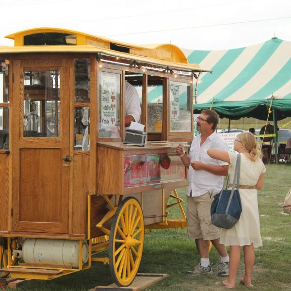 Popcorn Wagon Addition to the Family Farm Adventure Tent