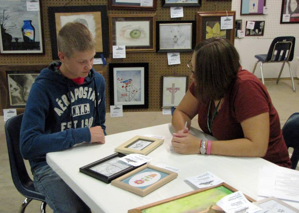 Painting and Drawing exhibitor entries in the Junior Fair