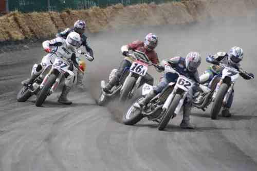 Motorcycle Flat Track Racing