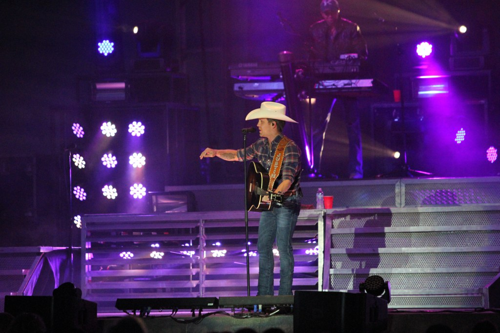 Justin Moore performed on Wednesday, August 14, 2013 at the Dodge County Fair