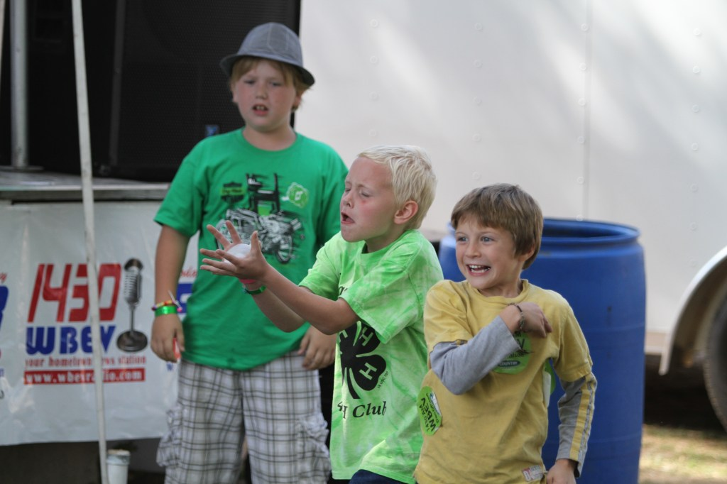 Kids Games in Radio Park at the Dodge County Fair