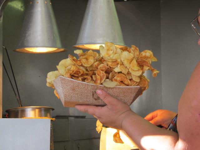 Ribbon Fries Fried #FairFood at the Dodge County Fair near Beaver Dam WI