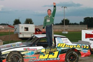 Chad Hummelmeier claimed the Street Stock Feature Win at the first ever DCSA promoted local #DirtTrack Racing on the Horsepower Half Mile at the Dodge County Fairgrounds Speedway on Sunday Night, September 7th, 2014.