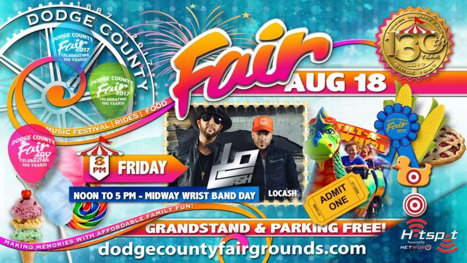 2017 Dodge County Fair Friday August 18