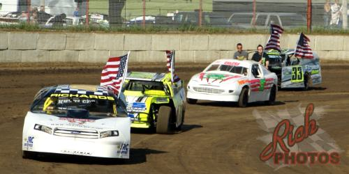 Last weeks feature winners National Anthem Lap