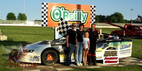 Jeff Richards Feature Win on MS Fabrication Night at the Races