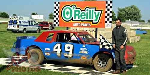 Craig Lepple Heat Race Win at Fairgrounds Speedway