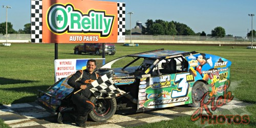 Mike Mueller Heat Race Win at Fairgrounds Speedway