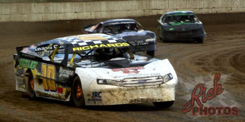 Jeff Richards turn four Dirt Track Racing