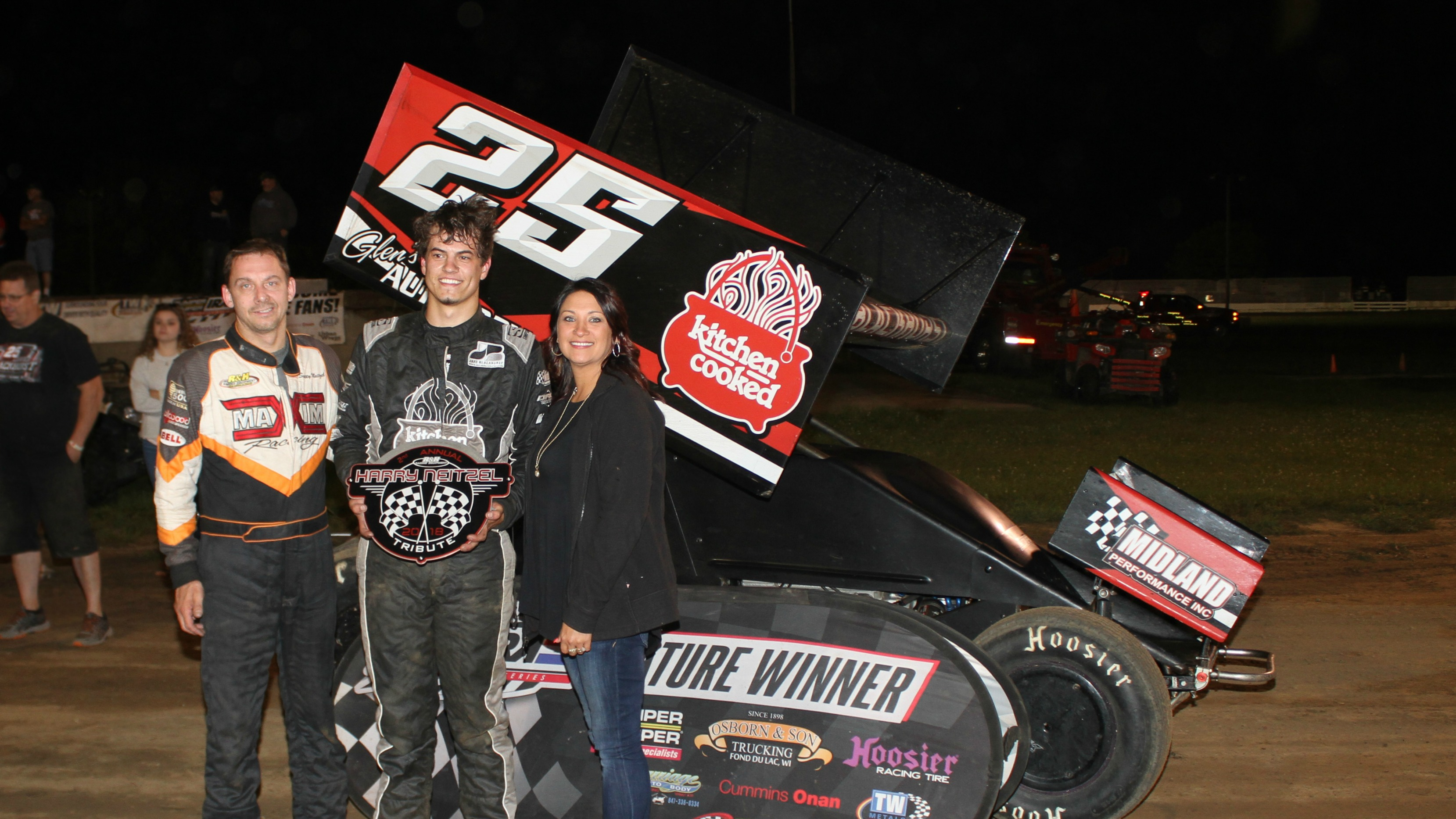 A Main win Jake Blackhurst of Hanna City IL in IRA Outlaw Sprints