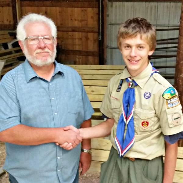 Park Benches donated through Eagle Scout Project