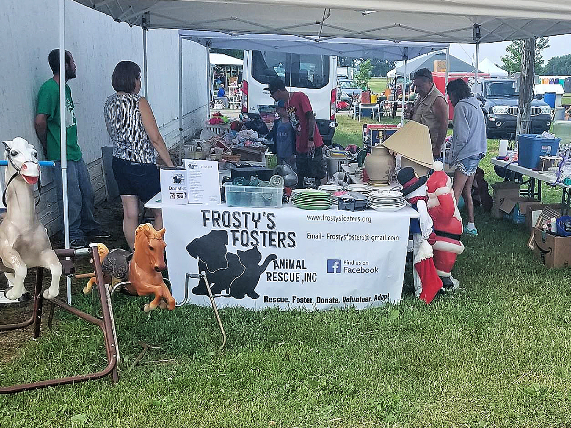 Frosty;s Fosters at Dodge County Flea Market