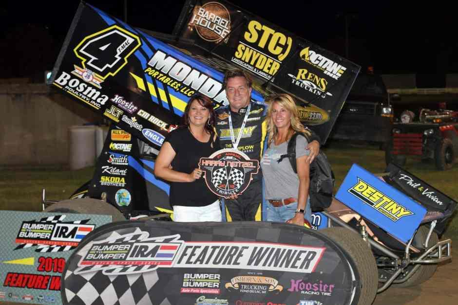 IRA Sprint Car A-Main Win Terry McCarl