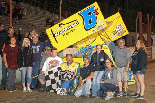 Kurt Davis wins MSA 360 Feature at Dodge County