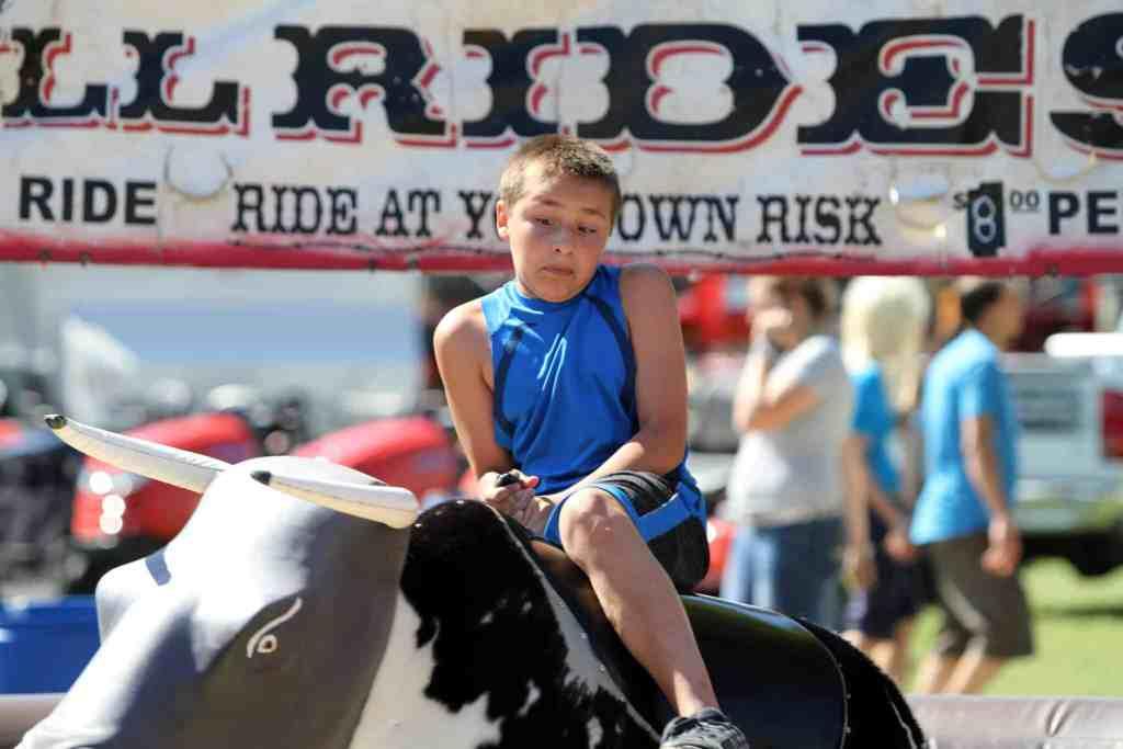 Mechanical Bull Rides at Dodge County Fair