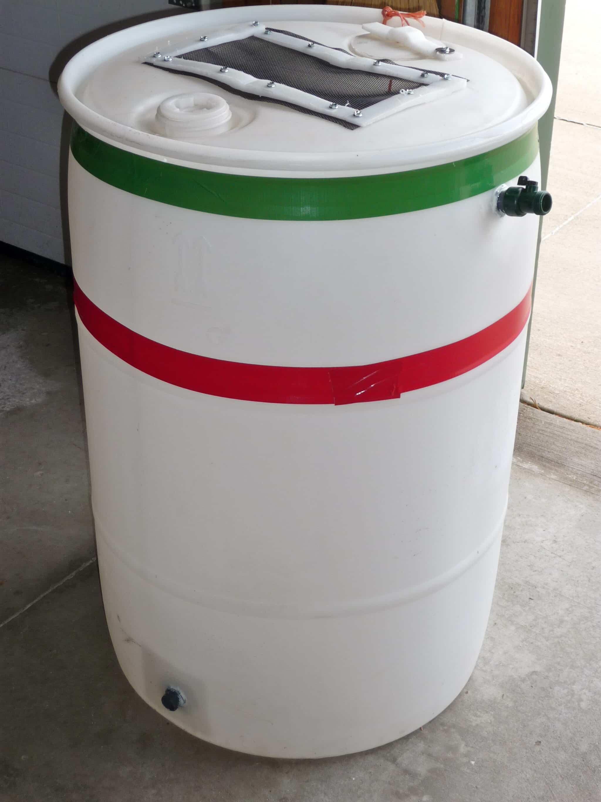 Plastic Rain Barrel Local Wisconsin Gardening