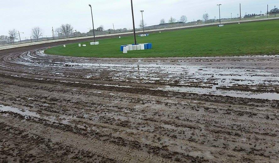 Rainout Too Much Water Racetrack Mud