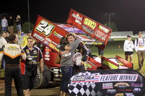 Terry McCarl T-Mac IRA Feature Win at Dodge County