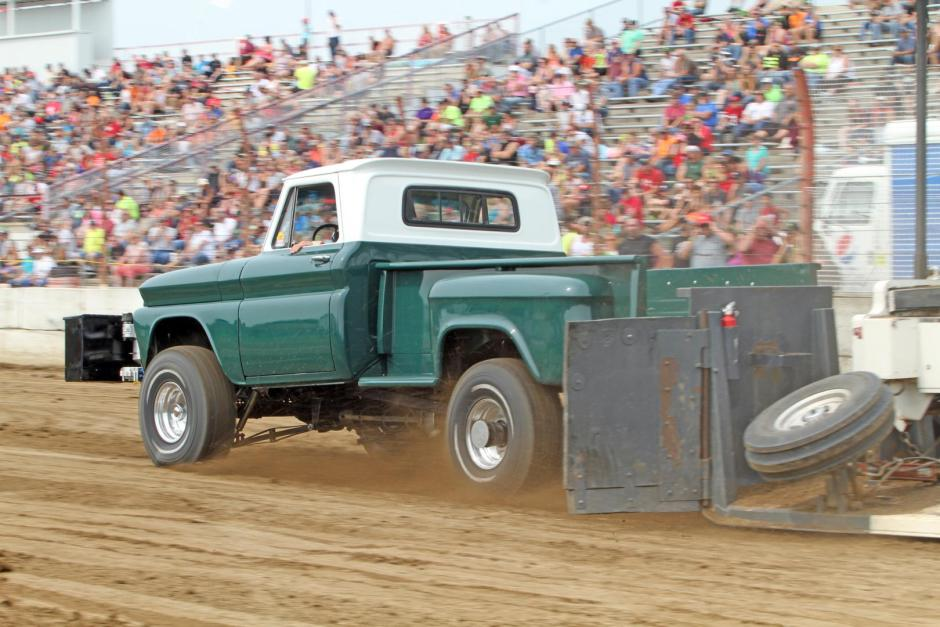Vintage Ford Truck Pull Dodge County Fair