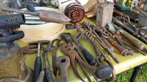 Wisconsin Flea Market Rusty Antique Tools