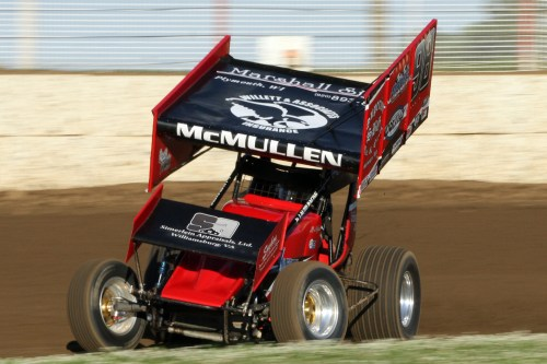 Brandon McMullen in the 98 MSA 360 Sprint Car