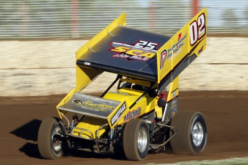 Mike Reinke in the 02 IRA Outlaw Sprint Car