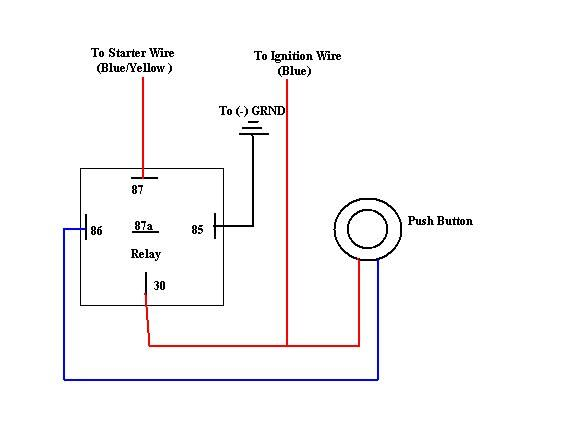 wiring diagram for on off push button switch