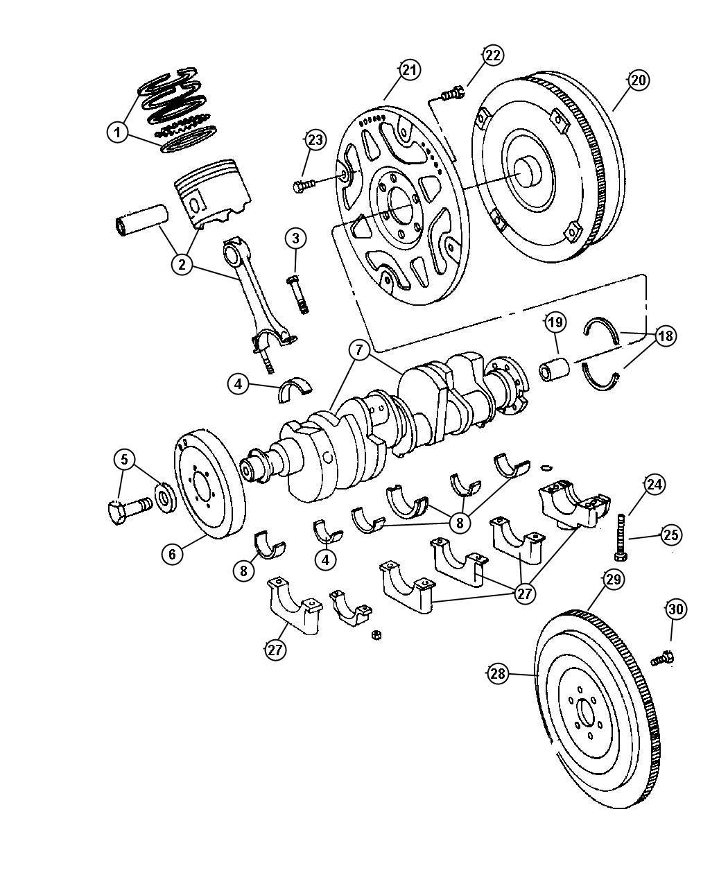 Dodge Ram 2500 Bearing. Pilot. Manual transmission