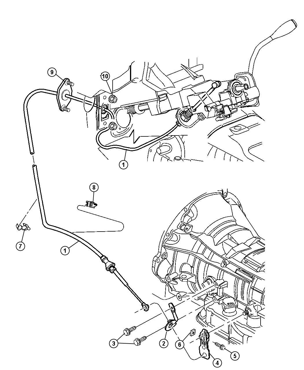 Dodge Dakota Cable. Shift. Transmission, gearshift