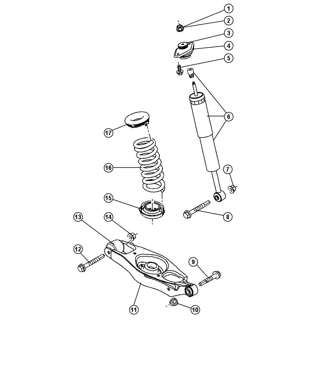 Dodge Charger Isolator. Spring. Upper. Suspension, shocks