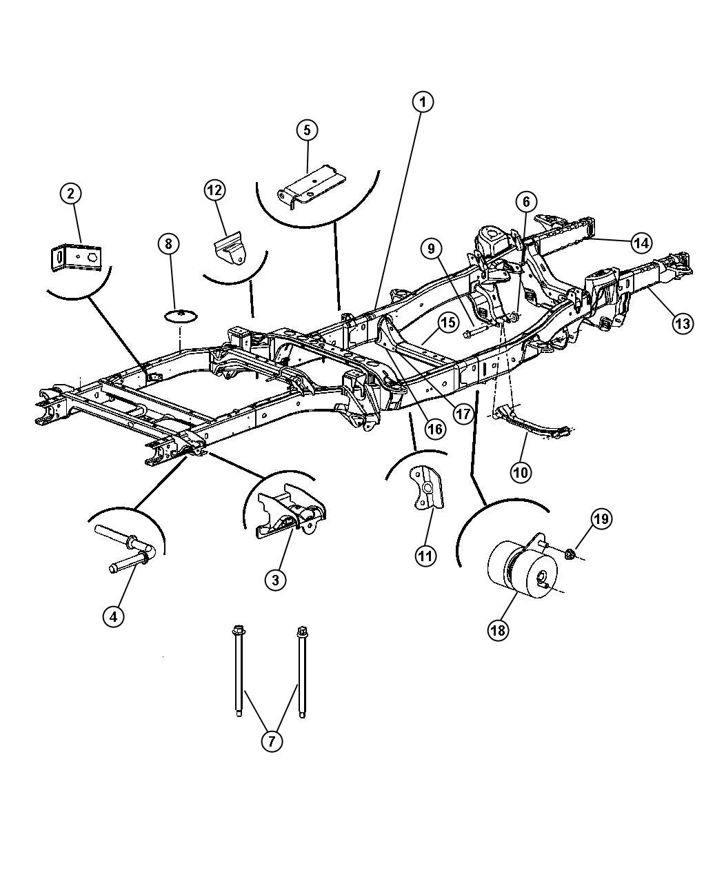 Dodge Ram Rail Package Right Front Frames
