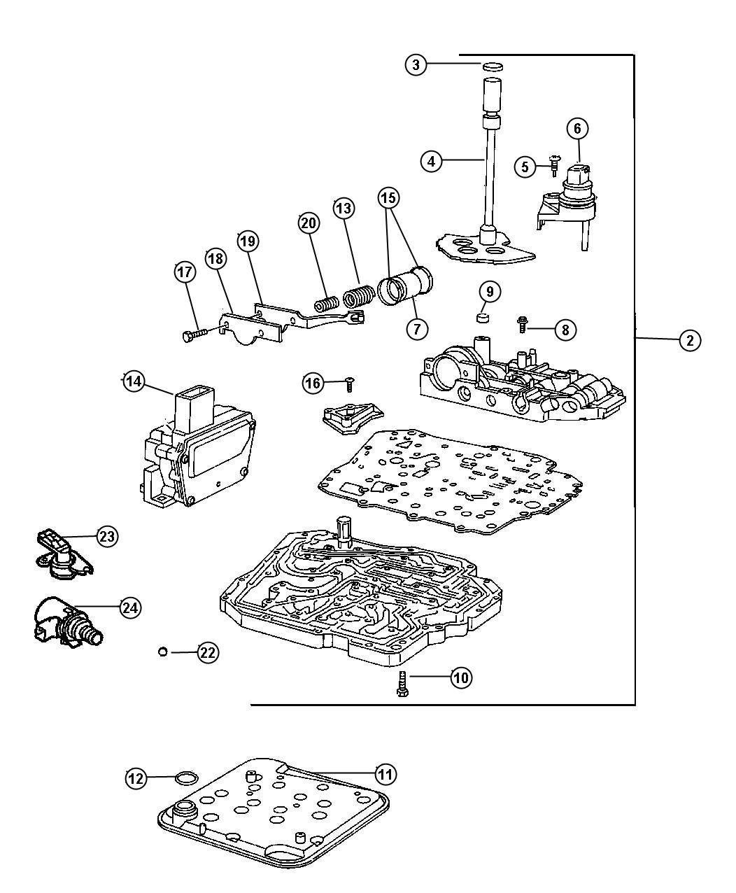 Dodge Charger Solenoid, solenoid package. Transmission