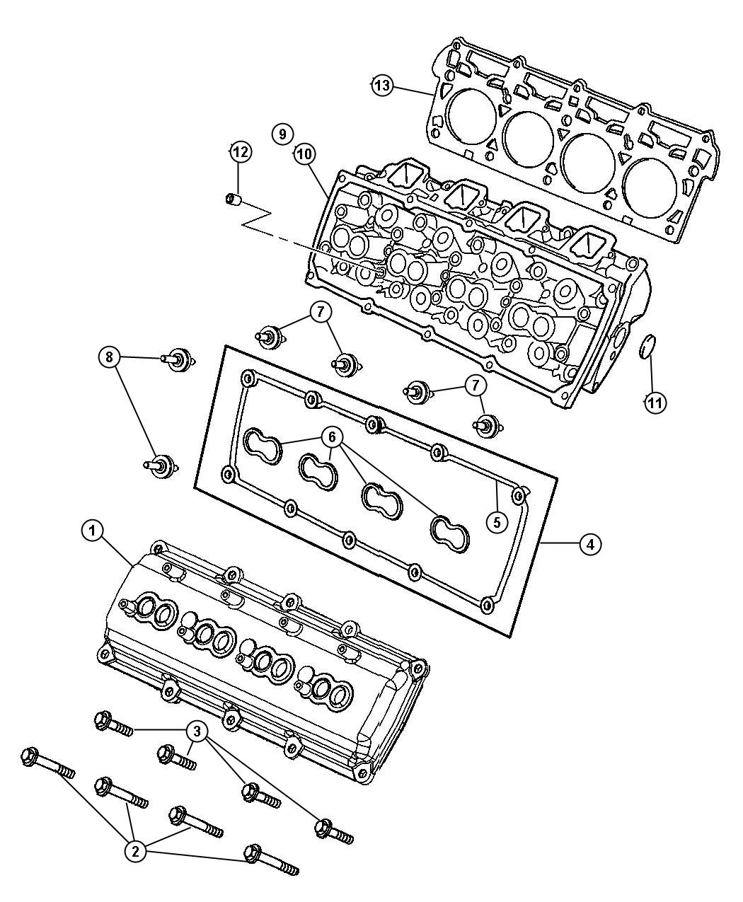 Dodge Charger Gasket Cylinder Head Used For Right And