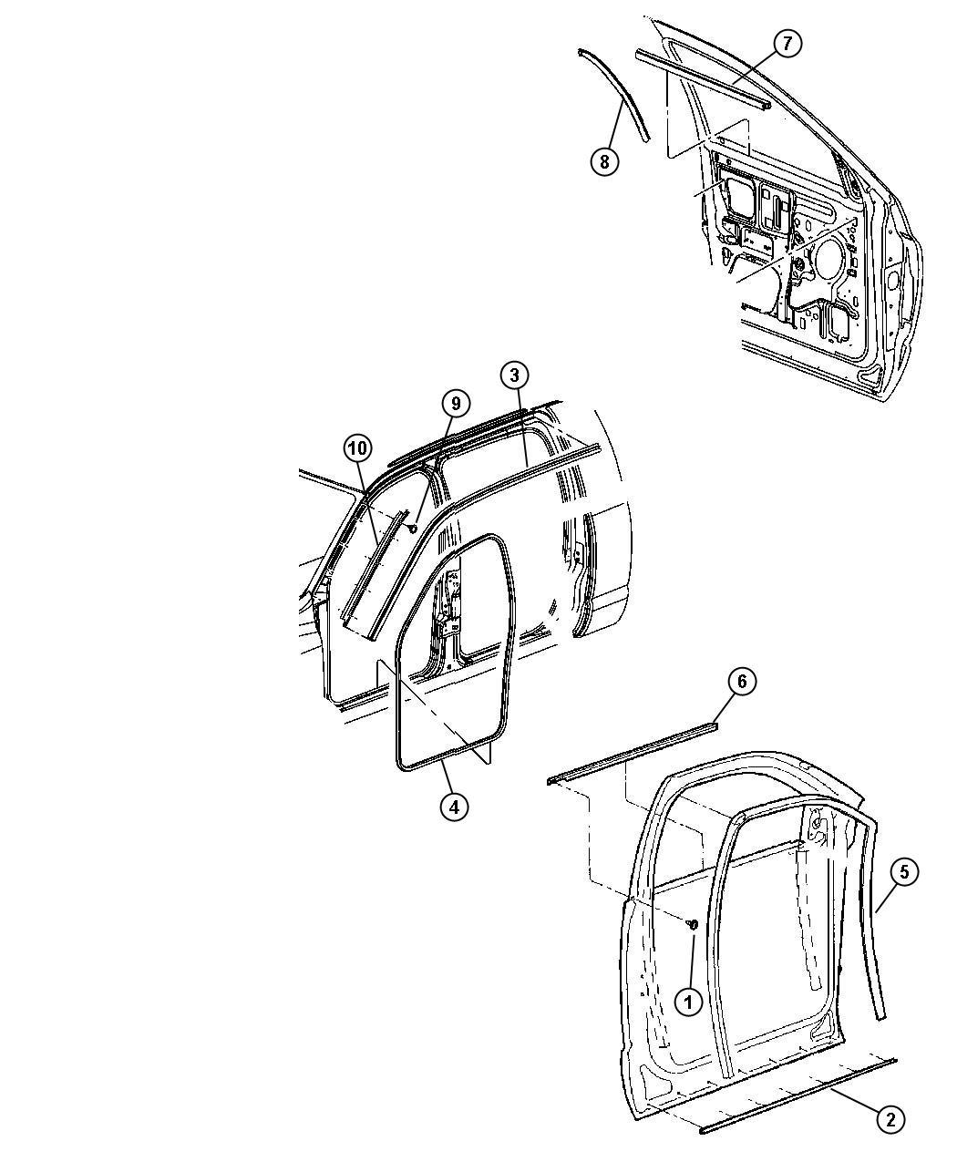 Dodge Ram Weatherstrip Door Belt Left