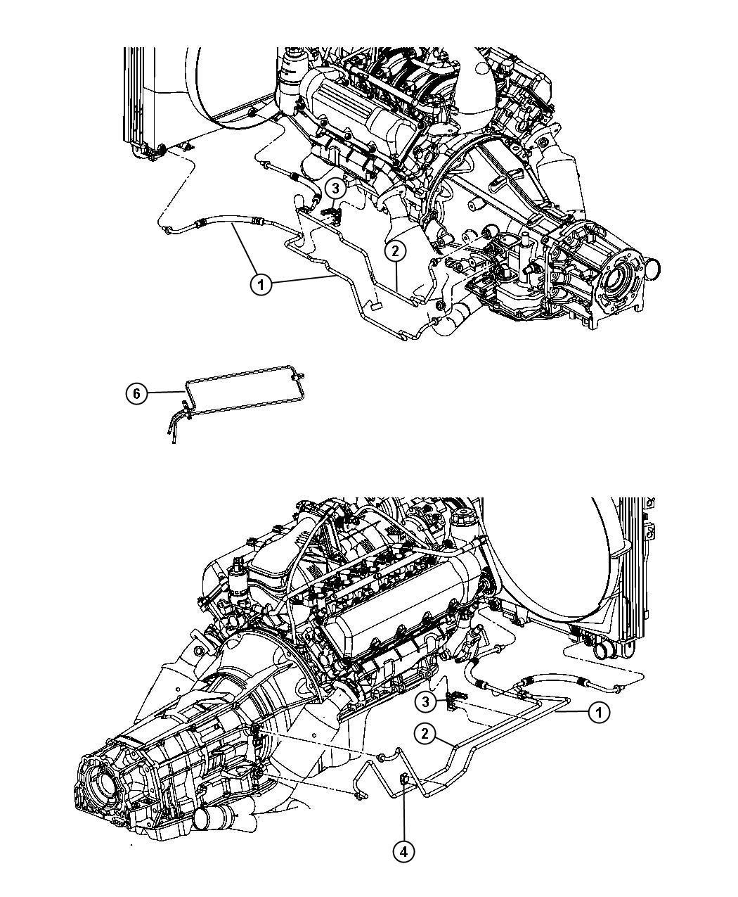 Dodge Dakota Used for: TUBE AND HOSE. Oil Cooler. Pressure
