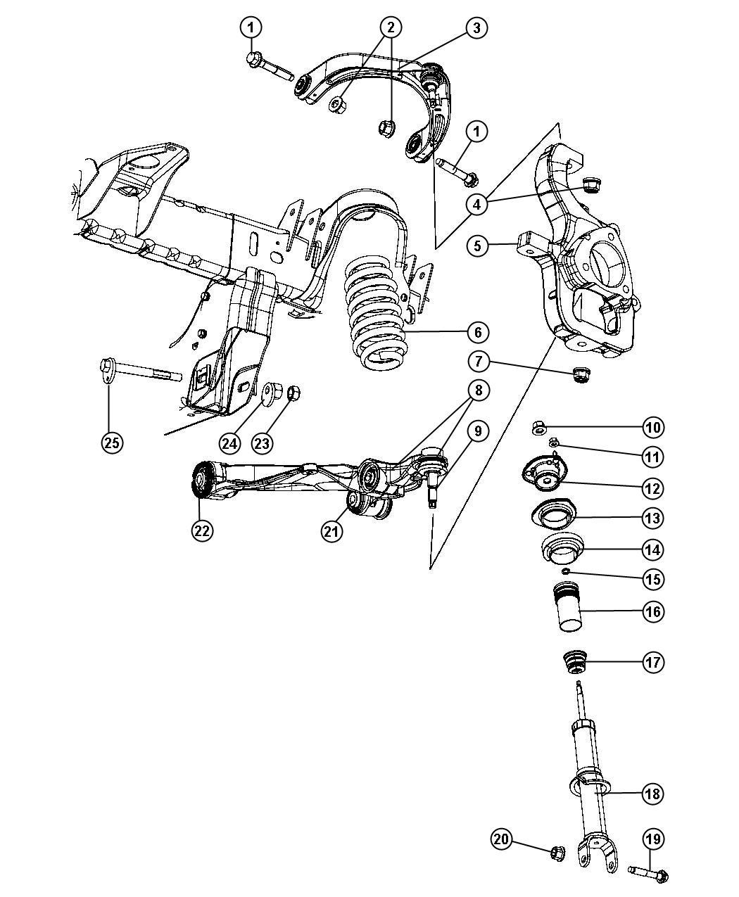 Dodge Dakota Nut. Hex flange lock. M14x2.00. Mounting. Lca