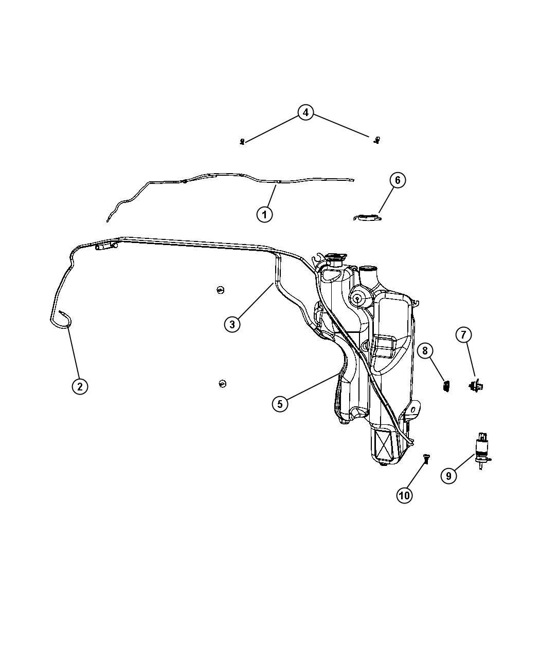 Dodge Ram Nozzle Windshield Washer System