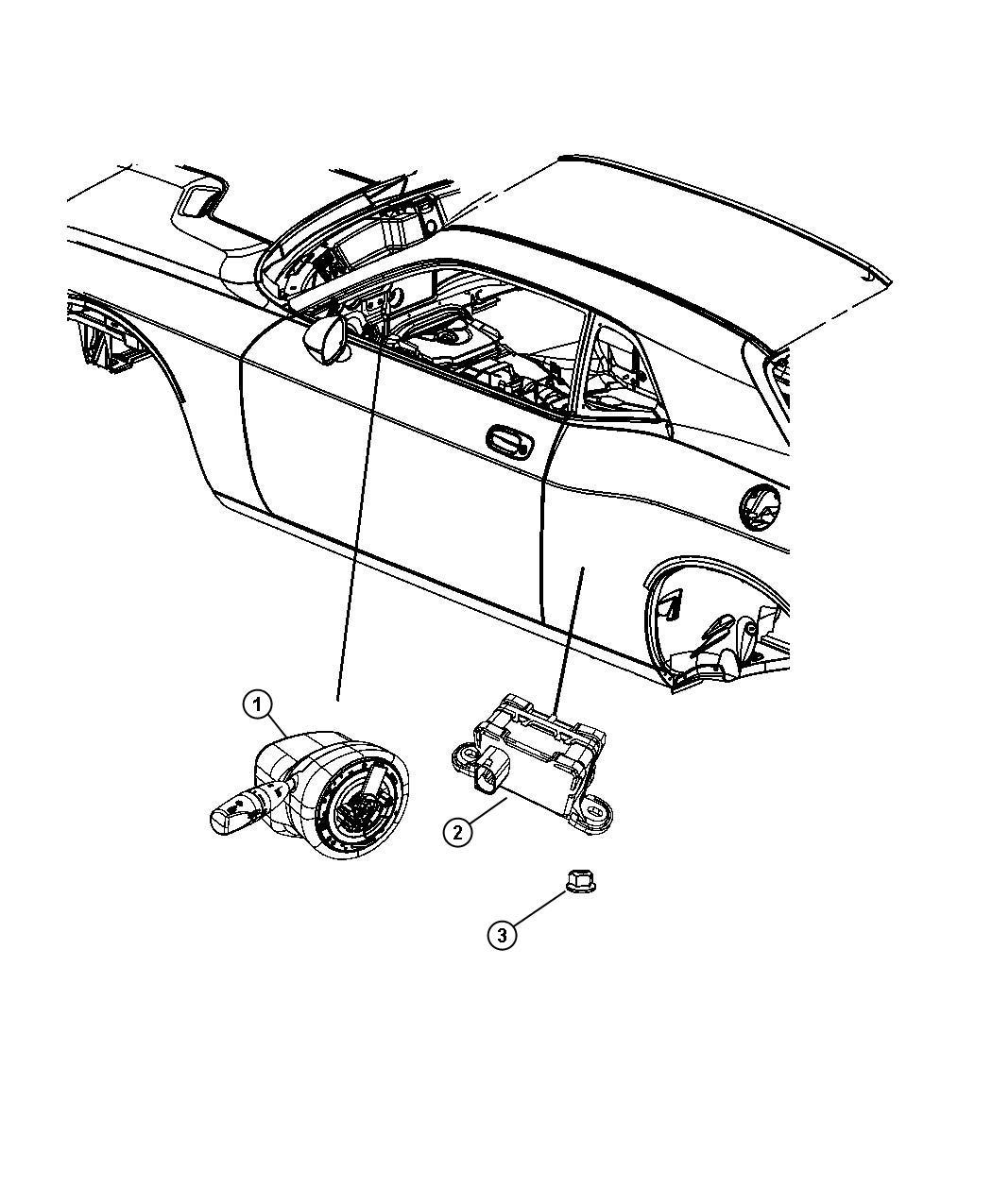 Dodge Challenger Module Steering Column Trim No