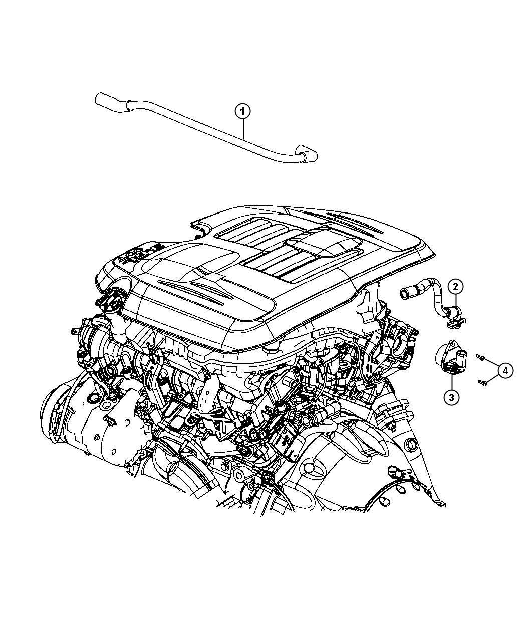 Dodge Charger Valve. Pcv. Engine, crankcase, ventilation