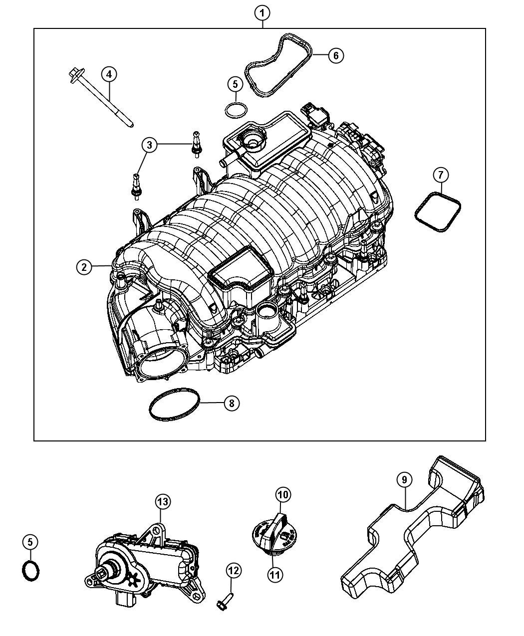 2012 Dodge Charger Actuator. Intake short running valve