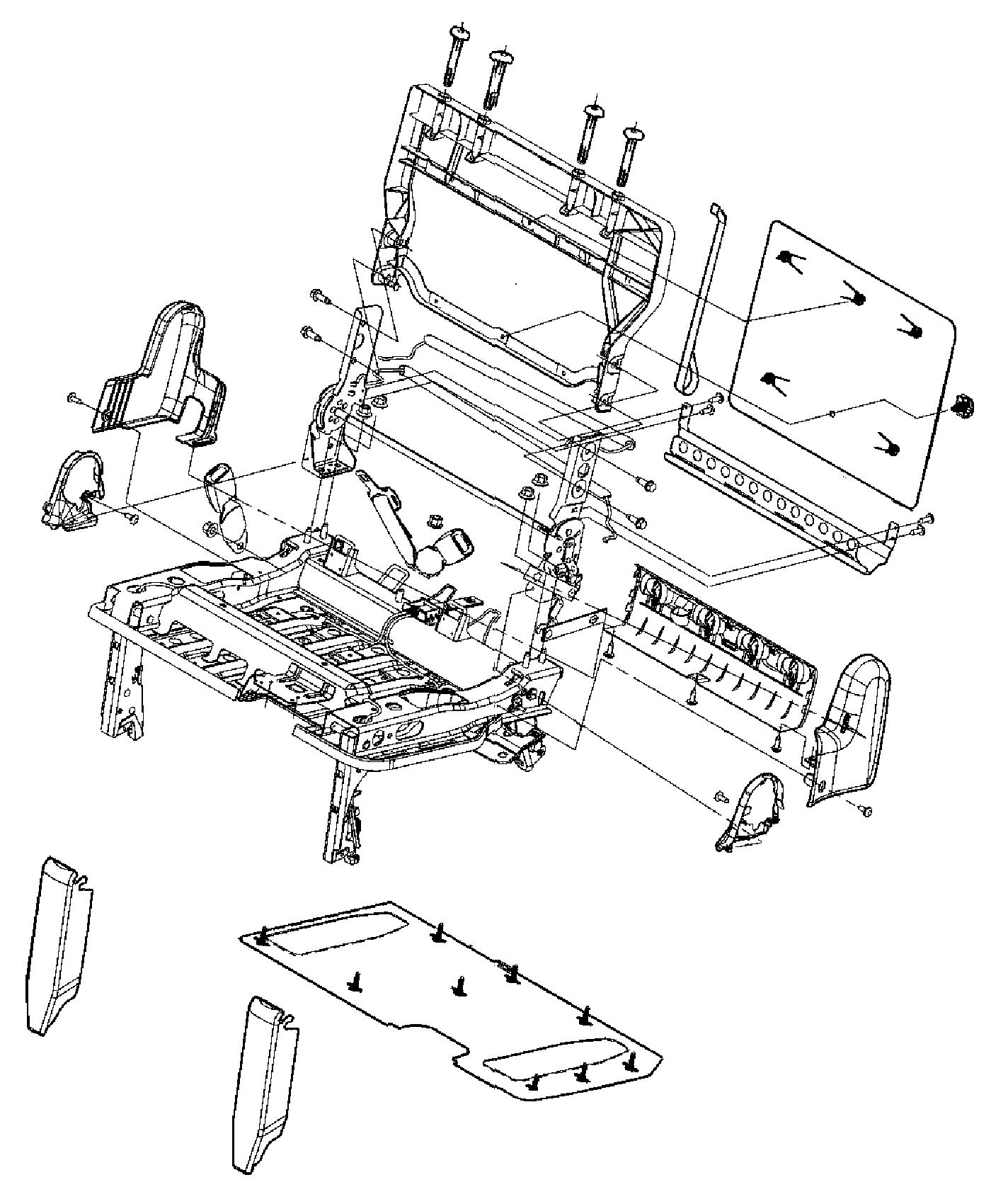 Dodge Ram Panel Rear Seat Back Trim Lux Leather