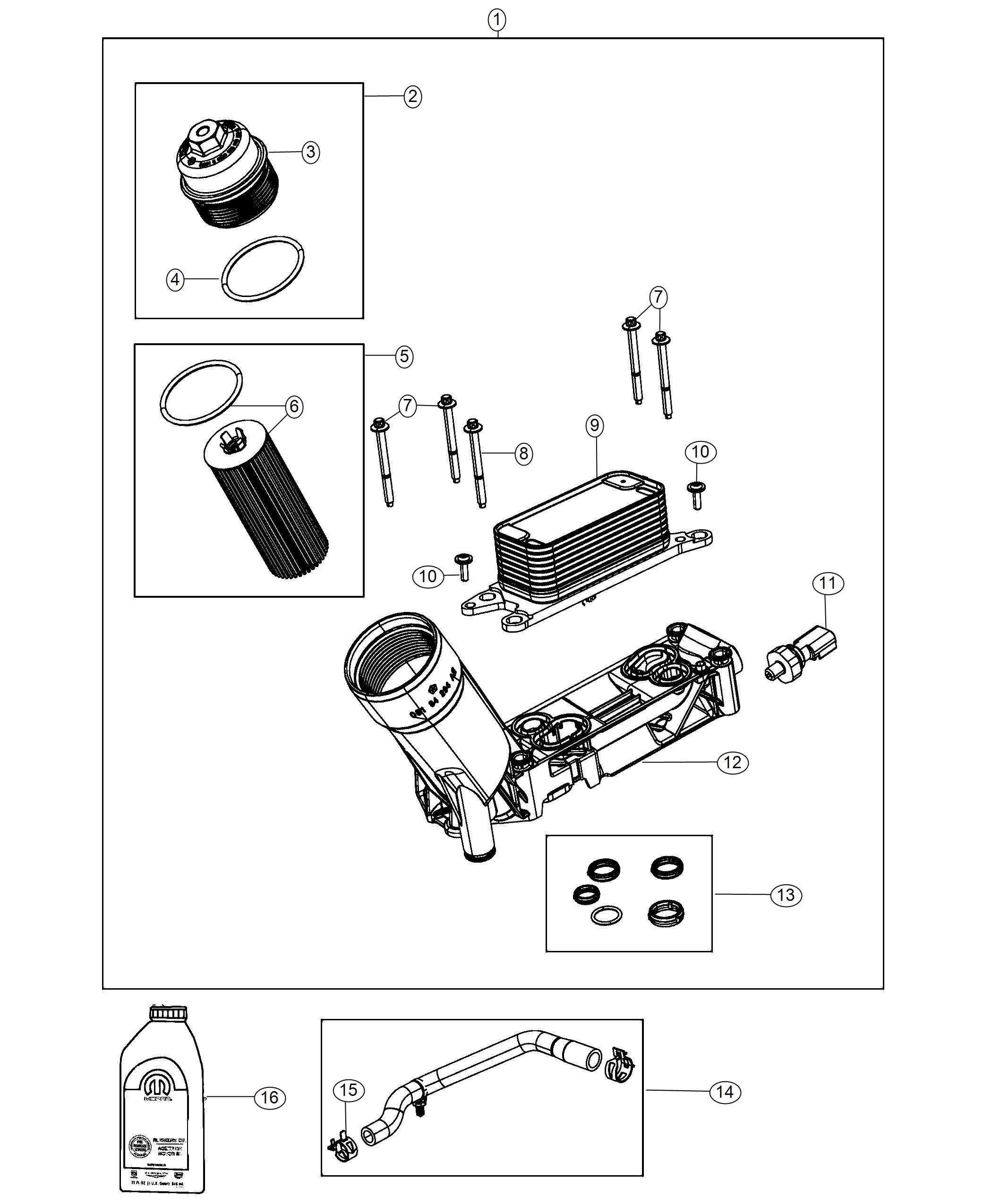 Dodge Durango Sensor. Oil pressure, temperature/pressure