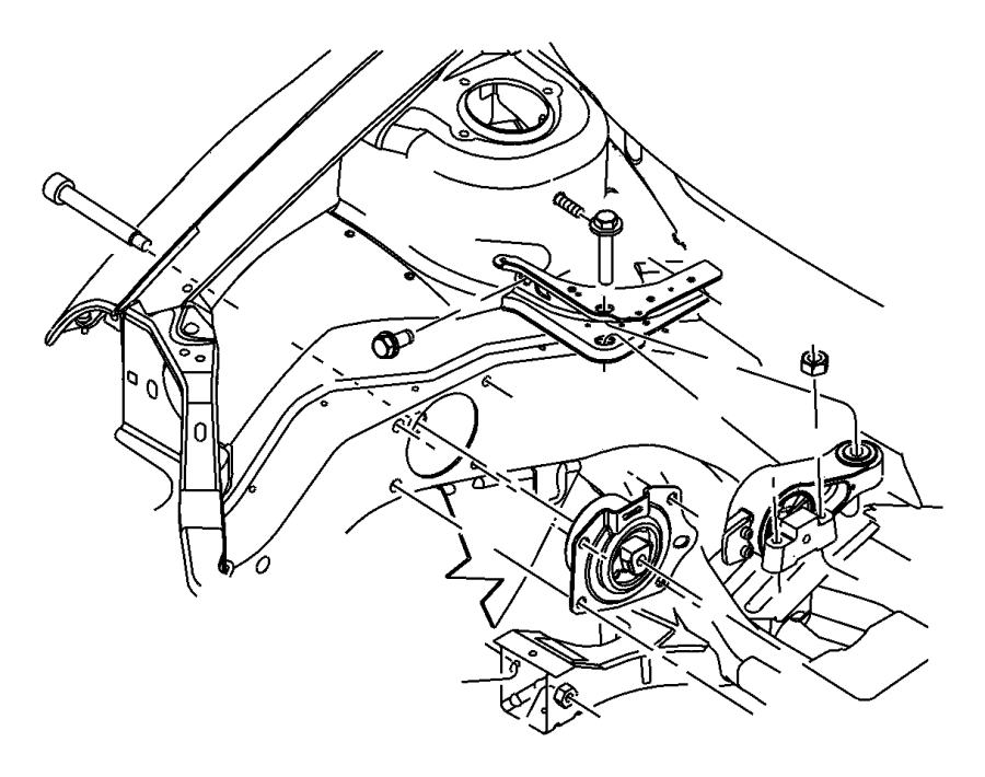 Dodge Neon Support, support package. Engine mount. Engine