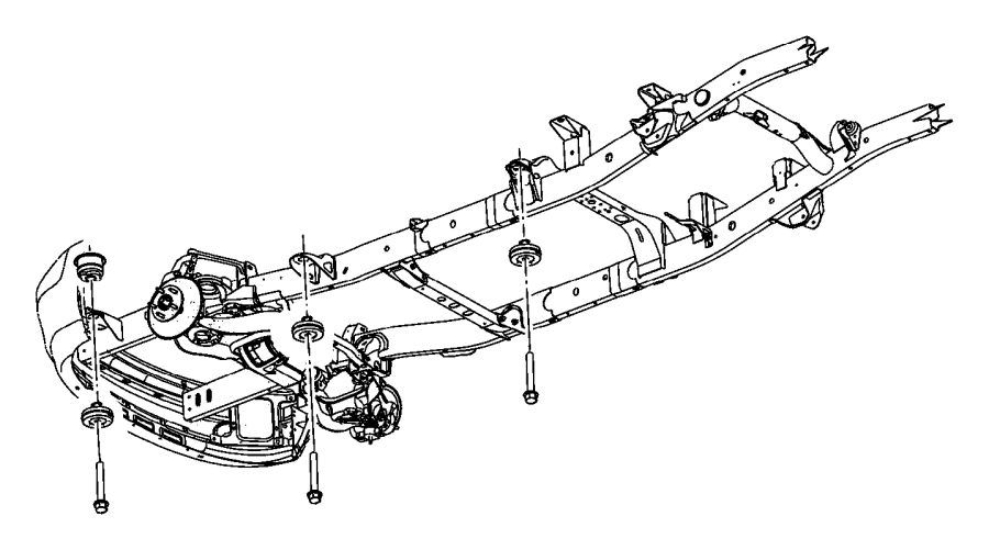 2003 Dodge Ram 3500 Insulator. Body hold down. Mounting