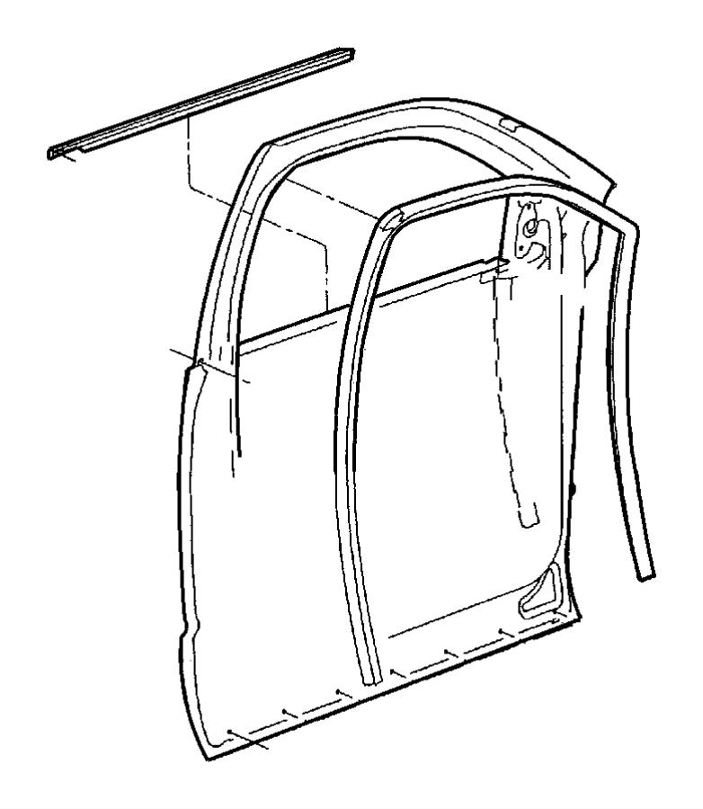 2007 Dodge Ram 1500 Weatherstrip. Door belt. Left