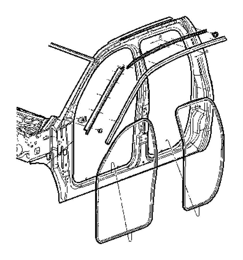 Dodge Ram 1500 Weatherstrip. Door belt. Left