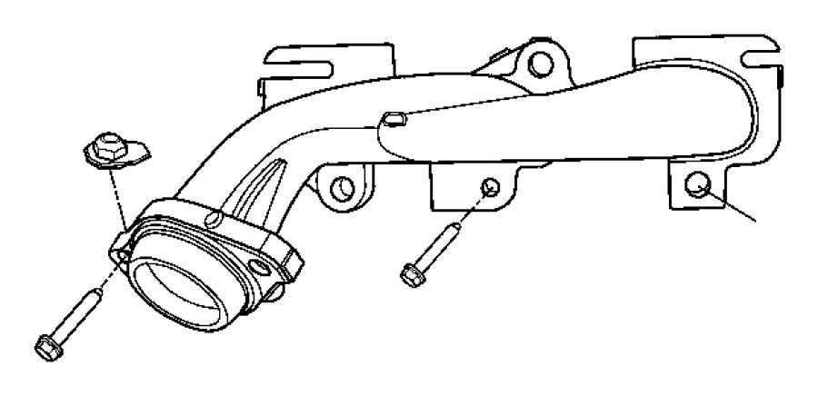 2006 Dodge Dakota Manifold. Exhaust. Right, right side