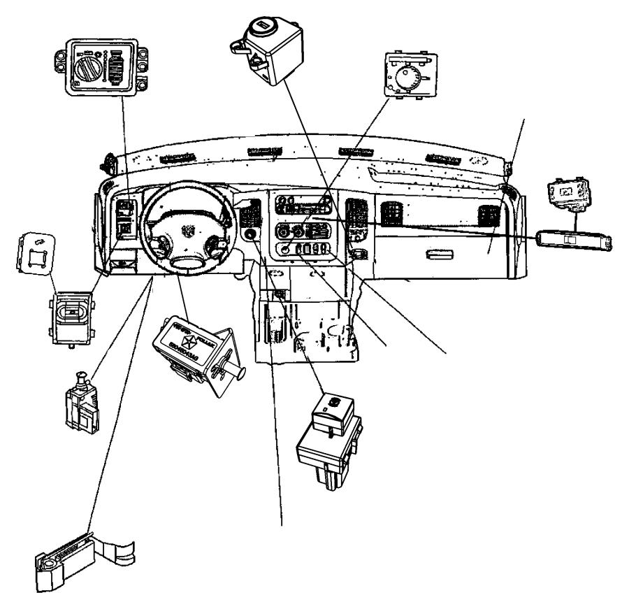 Dodge Ram 5500 Switch. Exhaust brake. [diesel exhaust